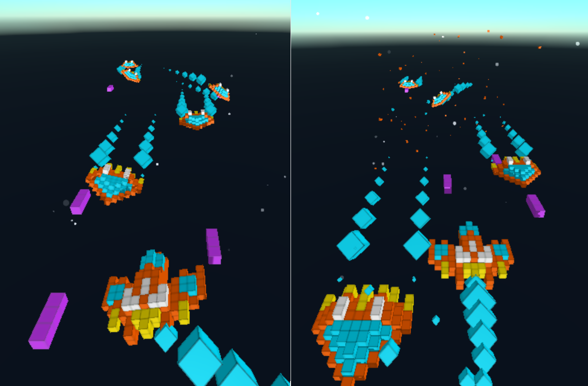 Free Unity3D Assets: Voxel Cube Spaceships – permadi com